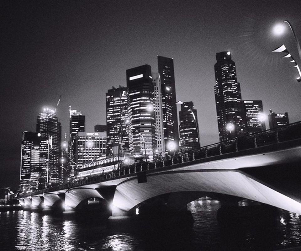 New York Skyline Black And White Wallpaper 960x800