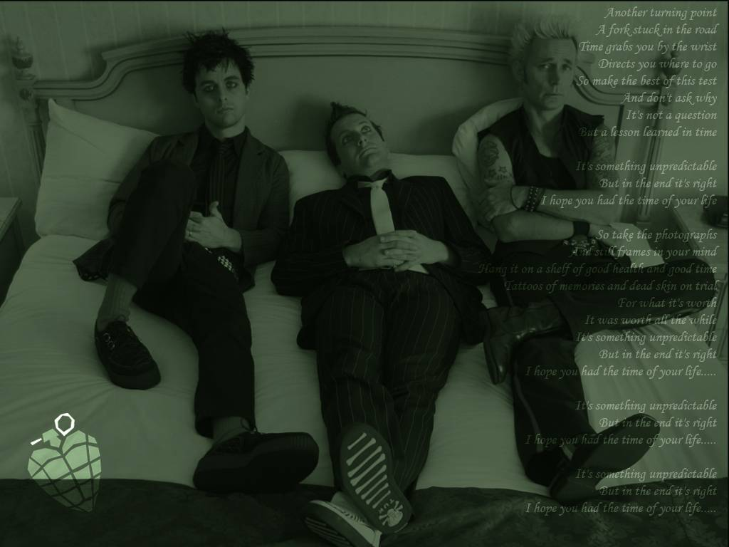 Time of Your Life Lyrics Wallpaper   Green Day Wallpaper 1024x768