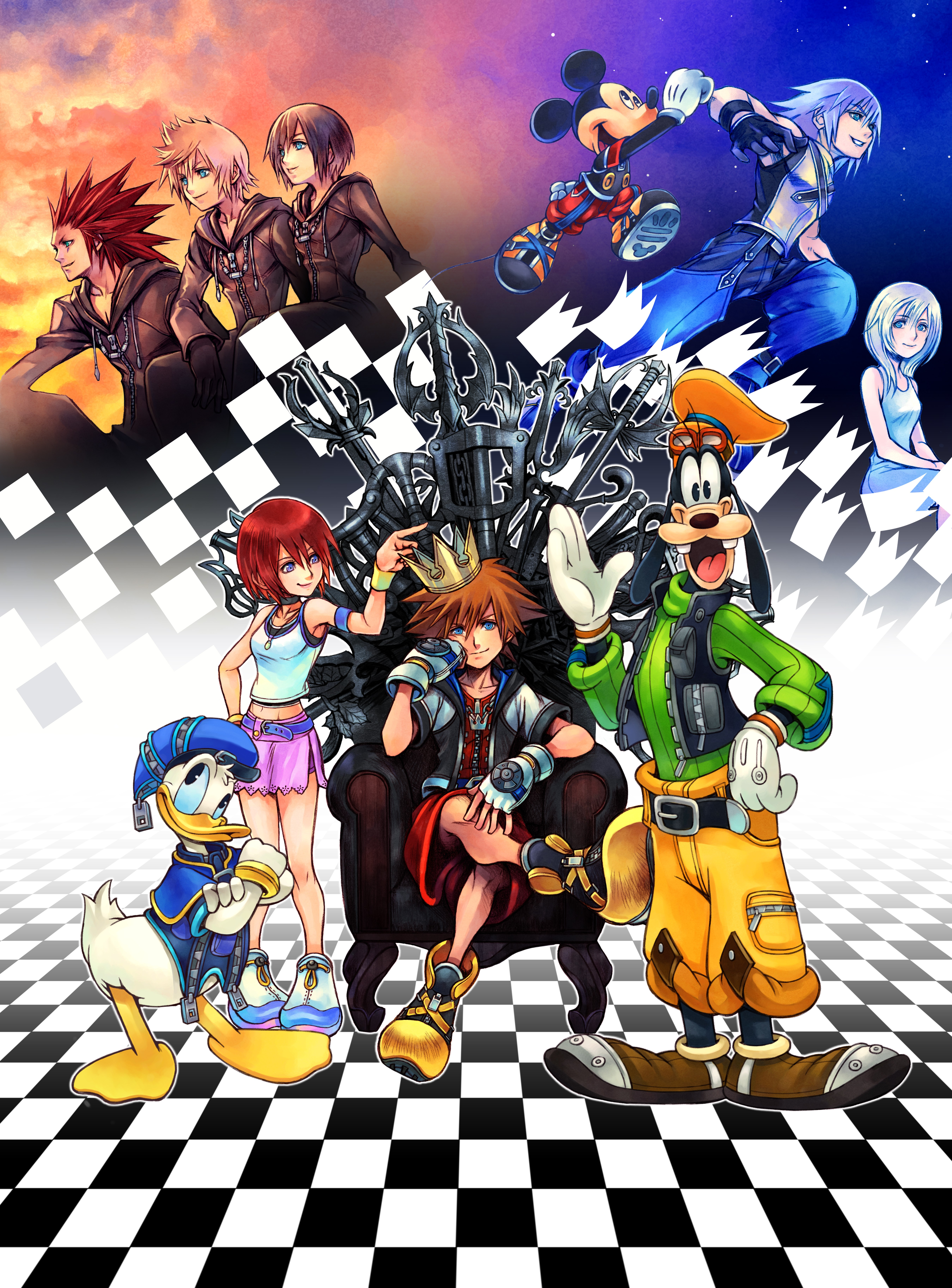 Heres the iPhone wallpaper without the Kingdom Hearts 15 logo at the 5400x7304