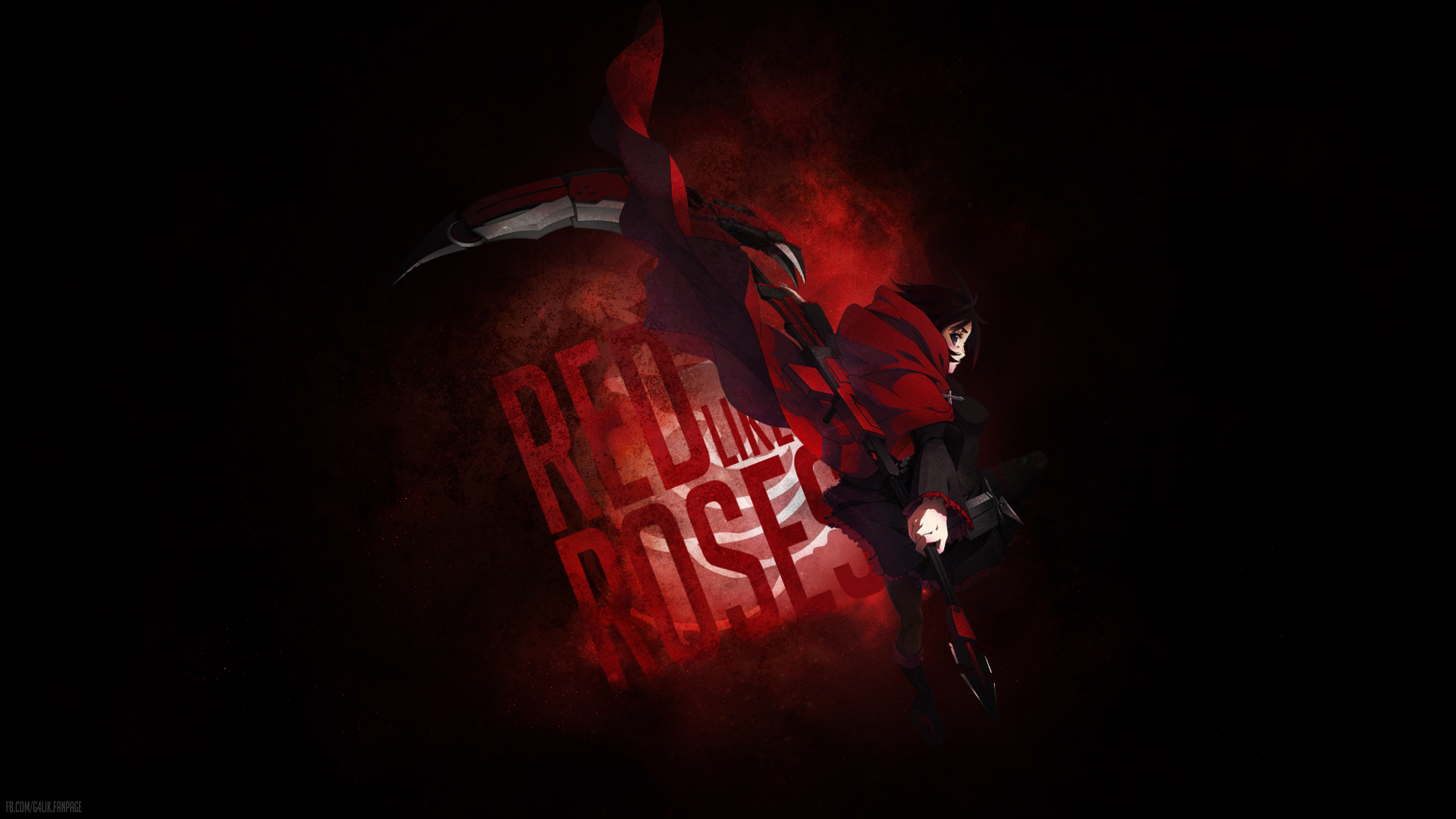 red like roses rwby wallpaper by g4lik fan art wallpaper movies tv 1920x1080