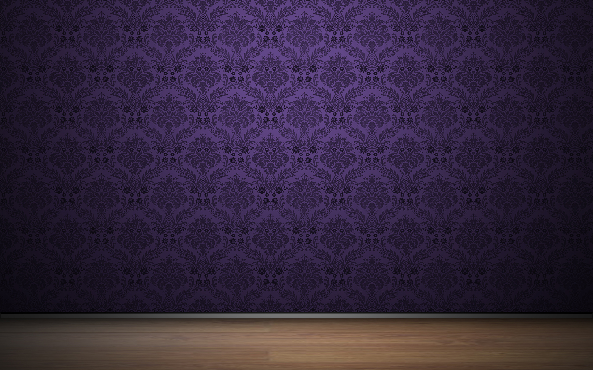 Purple Vintage Pattern Wallpaper 42466