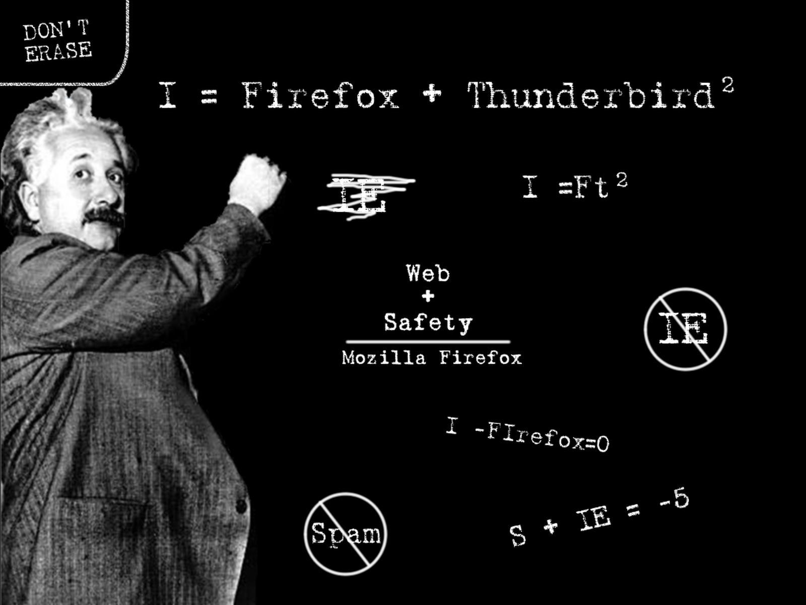 Funny Albert Einstein Firefox Formula id 110594 1600x1200