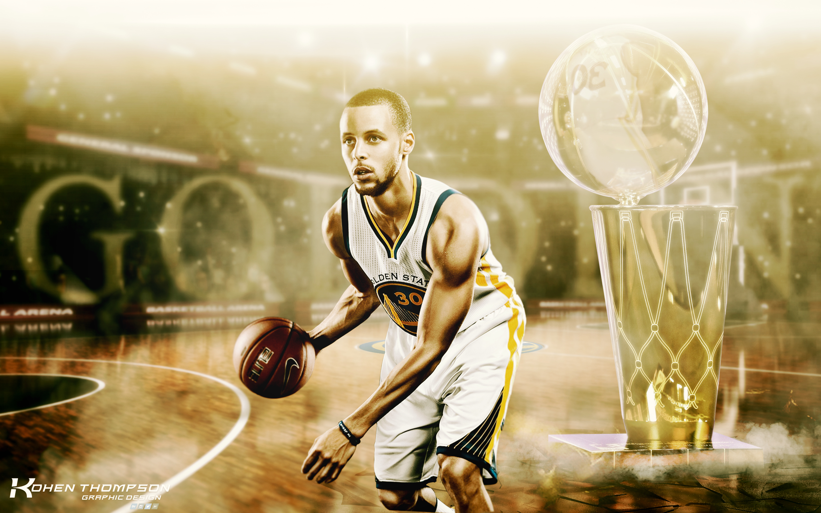 Stephen Curry Wallpaper by kohentdesign 2880x1800