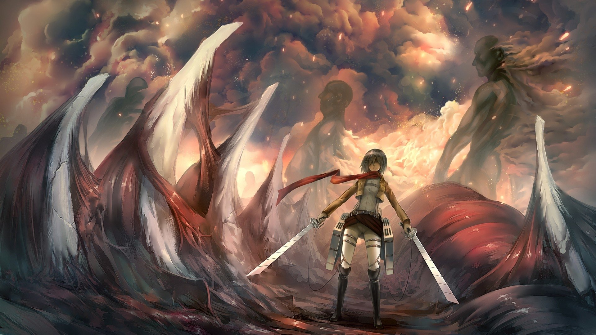 757 Mikasa Ackerman HD Wallpapers Background Images   Wallpaper 1920x1080