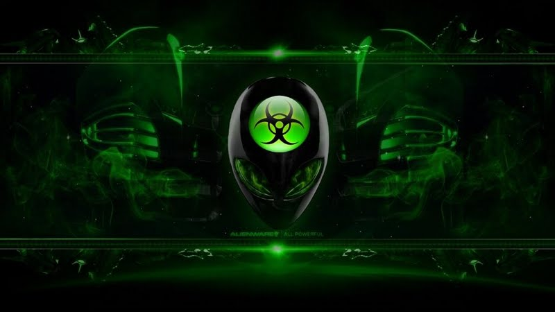 High resolution Alienware Bio Green desktoplaptop wallpaper Listed 800x450