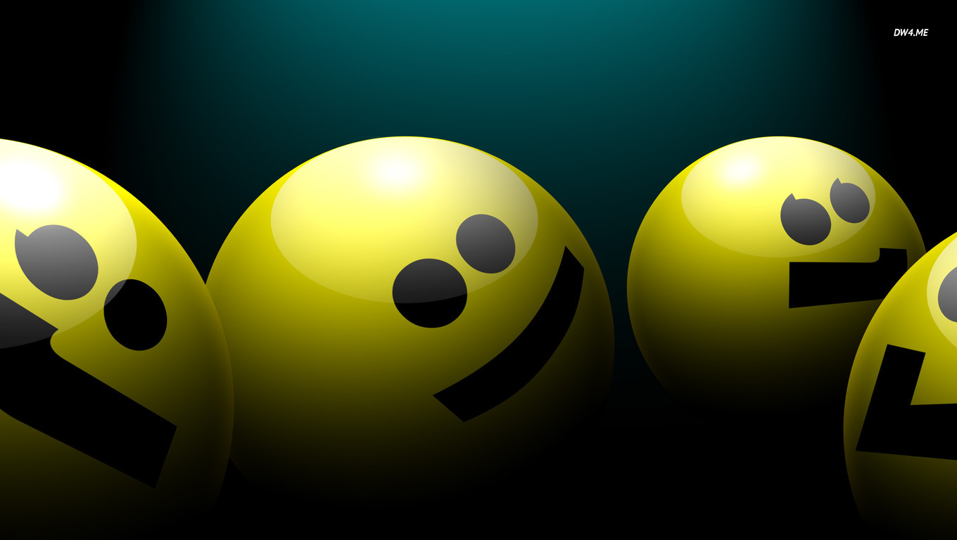 Smiley faces wallpaper   3D wallpapers   385 1360x768
