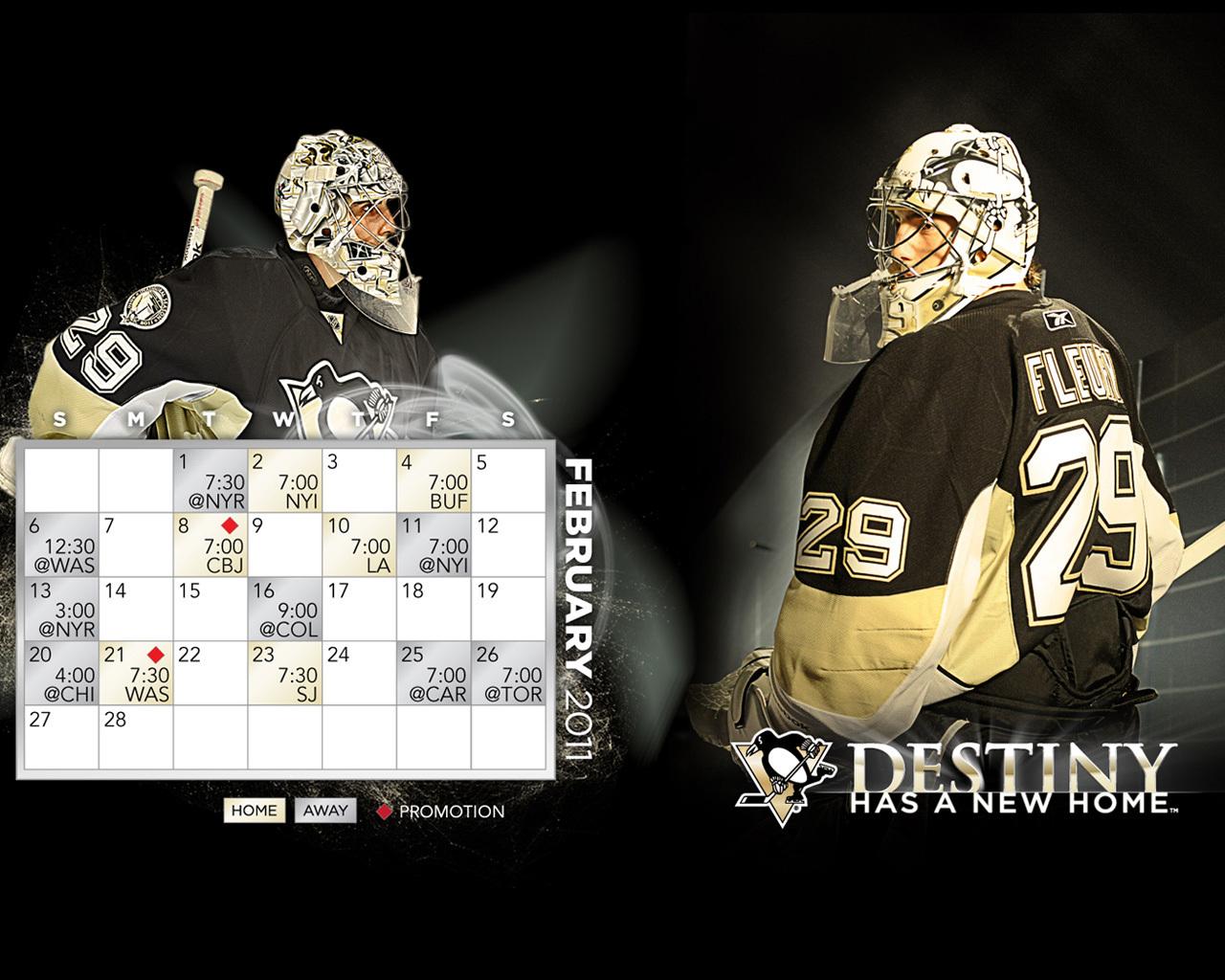 February 2011 CalendarSchedule   Marc Andre Fleury Wallpaper 1280x1024