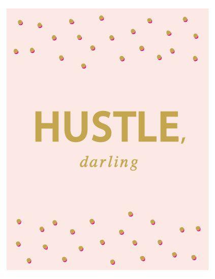 Hustle Darling Blush Print Gold Hot Pink Polka Dots 423x548