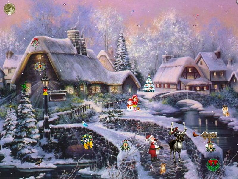 Christmas free wallpaper and screensavers wallpapersafari - Free 3d christmas screensavers ...