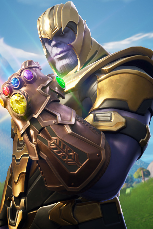 640x960 Thanos In Fortnite Battle Royale iPhone 4 iPhone 4S HD 4k 640x960