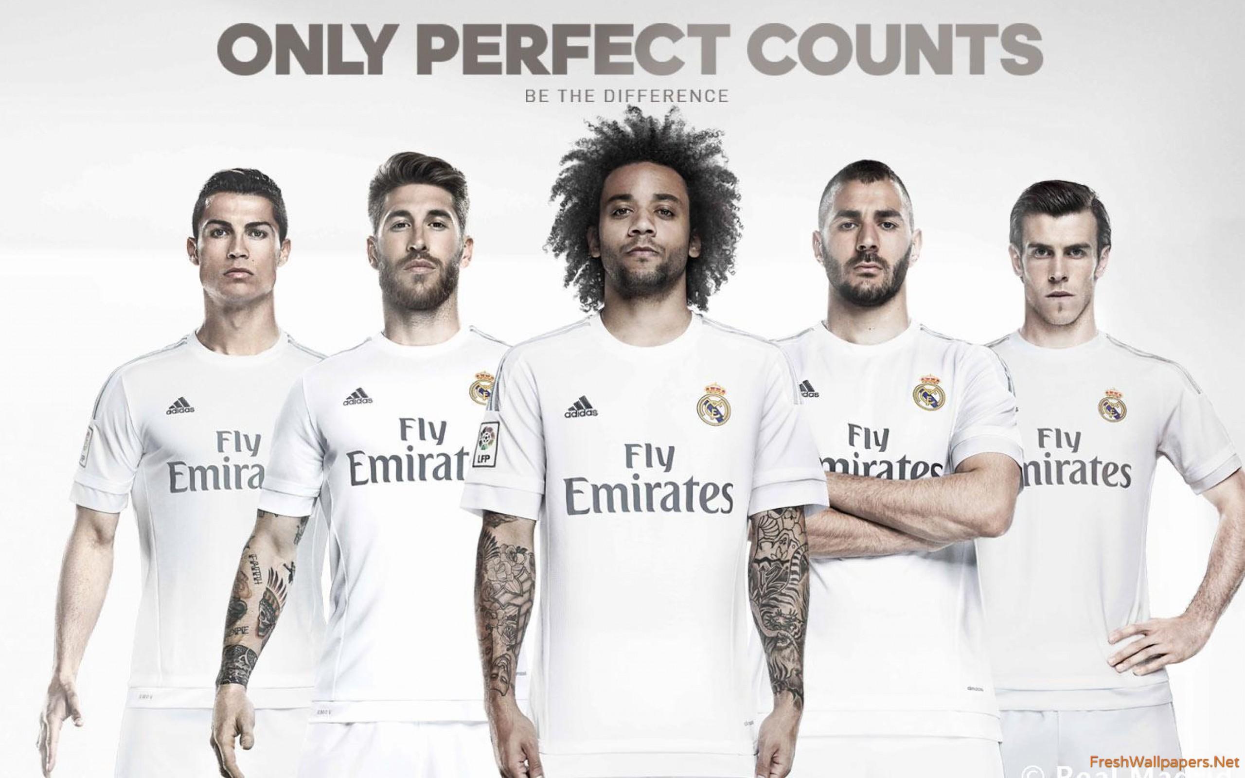 Real Madrid CF 2015 2016 Kit wallpapers Freshwallpapers 2560x1600