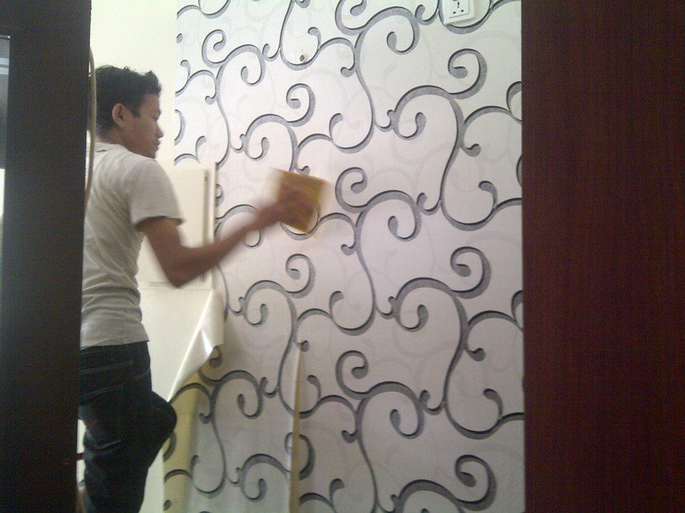 Cara memasang wallpaper dinding wallpapersafari - Cara pasang wallpaper ...