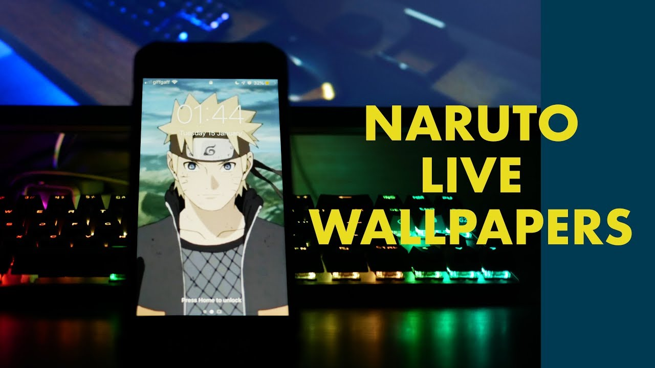 NARUTO LIVE WALLPAPERS 2019 iPhone Android GiFs 1280x720