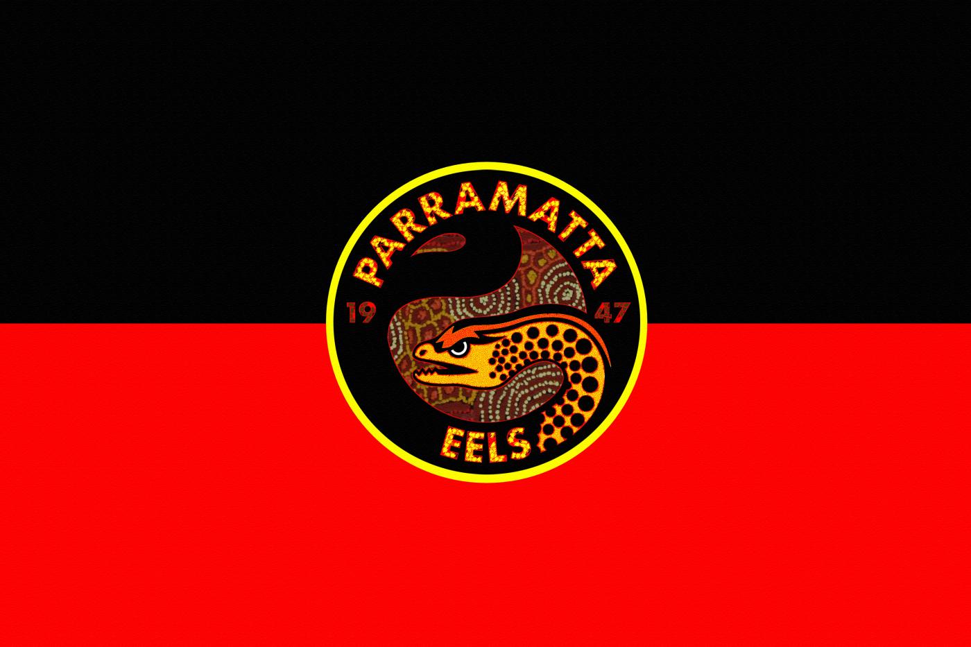 Parramatta Eels Aboriginal Flag Wallpaper by Sunnyboiiii 1400x933