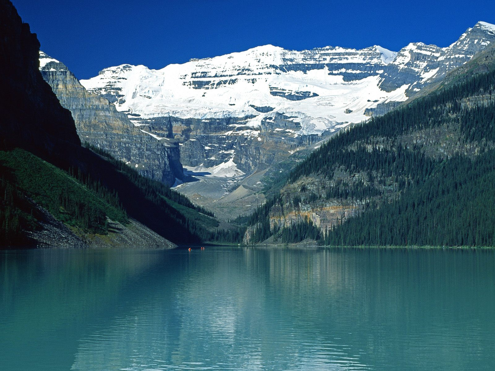 Lake Louise Canadian Rockies   Nature Wallpaper Image featuring Lakes 1600x1200