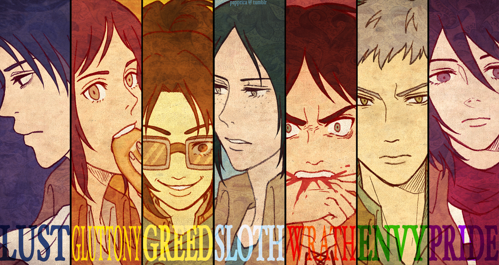 SnK   The Seven Deadly Sins by papprica 1024x545