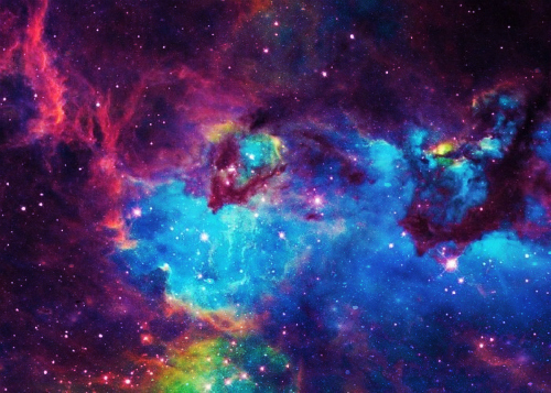 galaxy galaxies universe love colors colorful 500x357