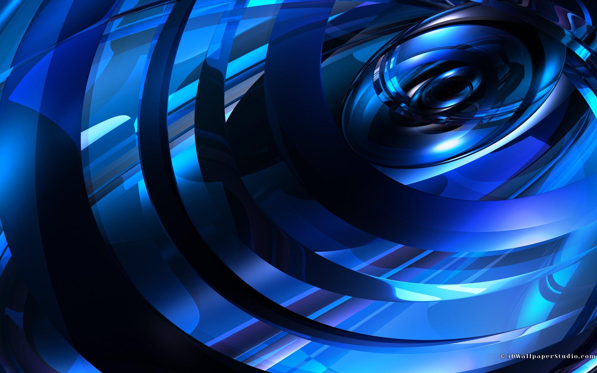 Blue 3D wallpaper   716728 1920x1200