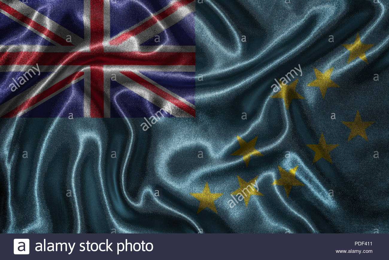Tuvalu flag   Fabric flag of v country Background and wallpaper 1300x870