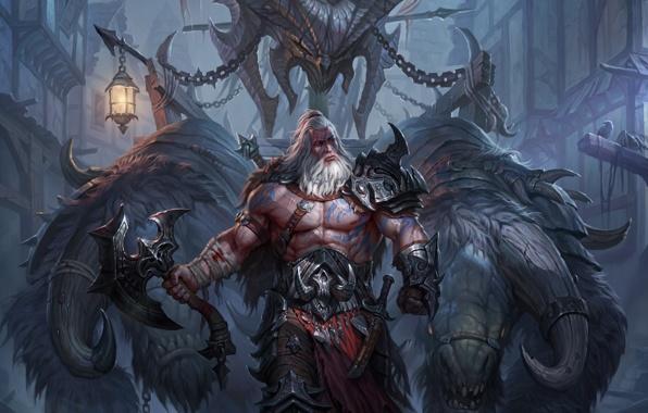 diablo iii reaper of souls diablos head mighty barbarian diablo 3 596x380