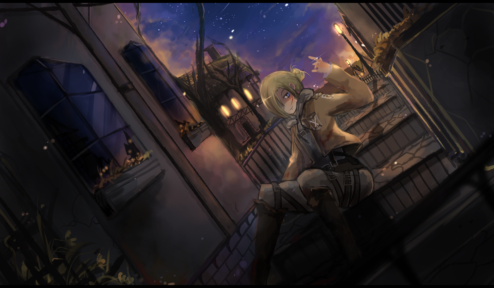 Annie Leonhardt Attack on Titan Shingeki no Kyojin Female Blonde Hair 1600x932