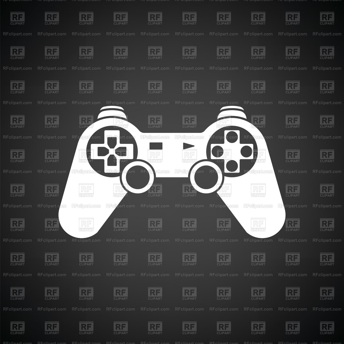 Gamepad icon on black background Vector Image of Technology 1200x1200