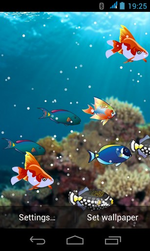 Under Water Live Wallpaper App per Android 307x512