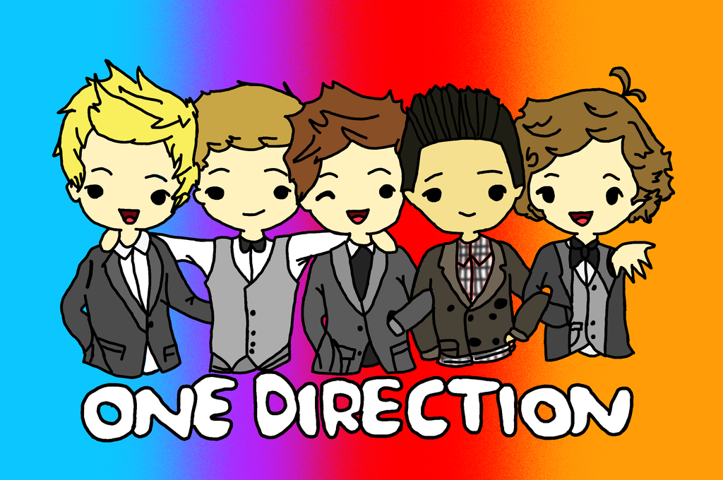 One Direction Cartoon coloured by Gilly Bird 1024x680