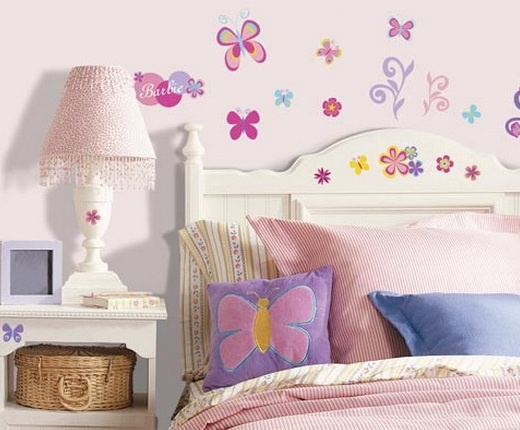 Butterfly Bedroom Decorating Ideas: Butterfly Wallpaper For Girls Room