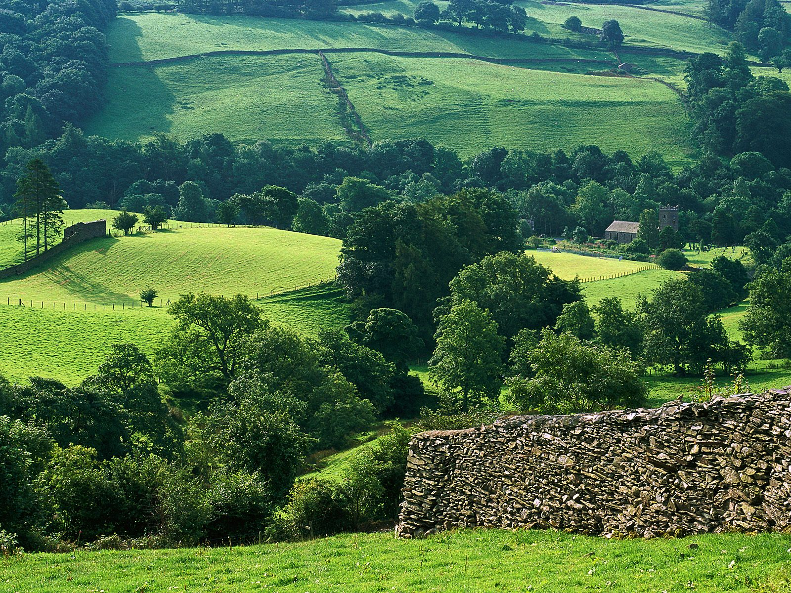 Hills of Troutbeck Lake District England   England Photography Desktop 1600x1200