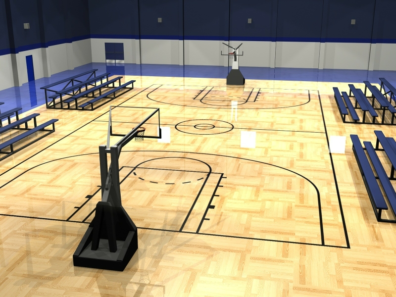 Basketball court wallpaper hd wallpapersafari for Build indoor basketball court