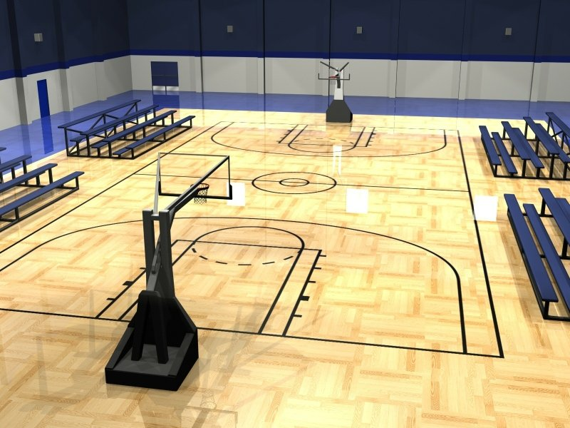 Basketball court wallpaper hd wallpapersafari for Indoor basketball court construction