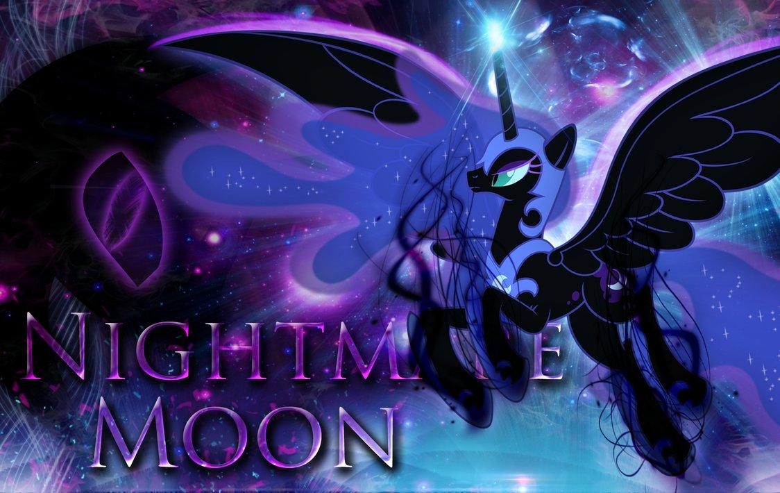 Nightmare Moon Wallpaper by MLArtSpecter 1124x710