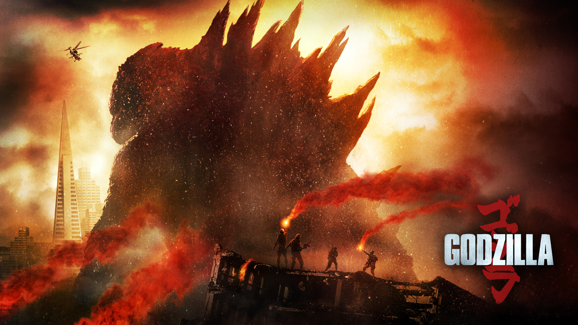godzilla 2014 movie hd 1920x1080 1080p wallpaper and compatible for 1920x1080