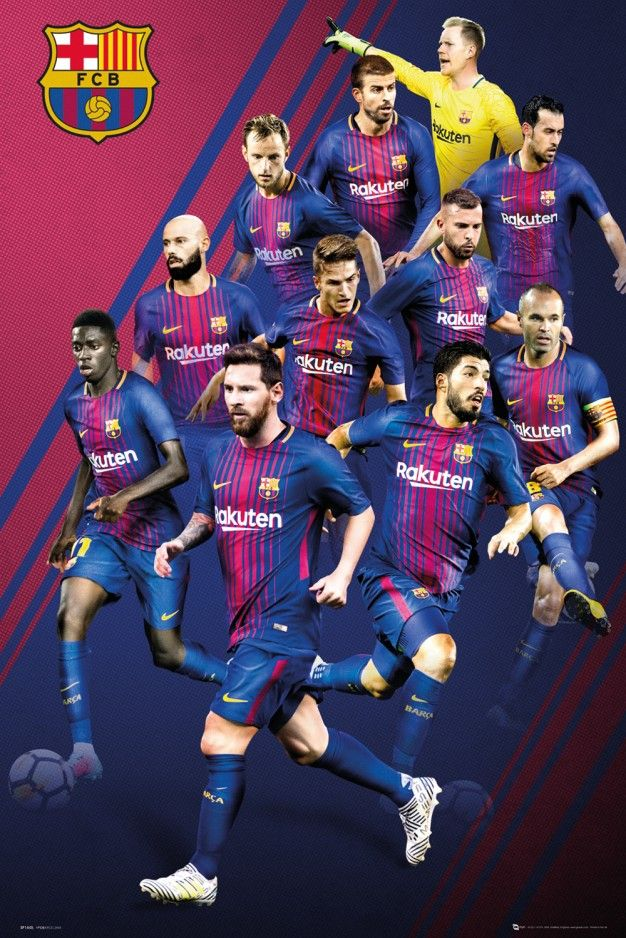 Barcelona Players 1718 Maxi Poster ghj Barcelona players 626x938