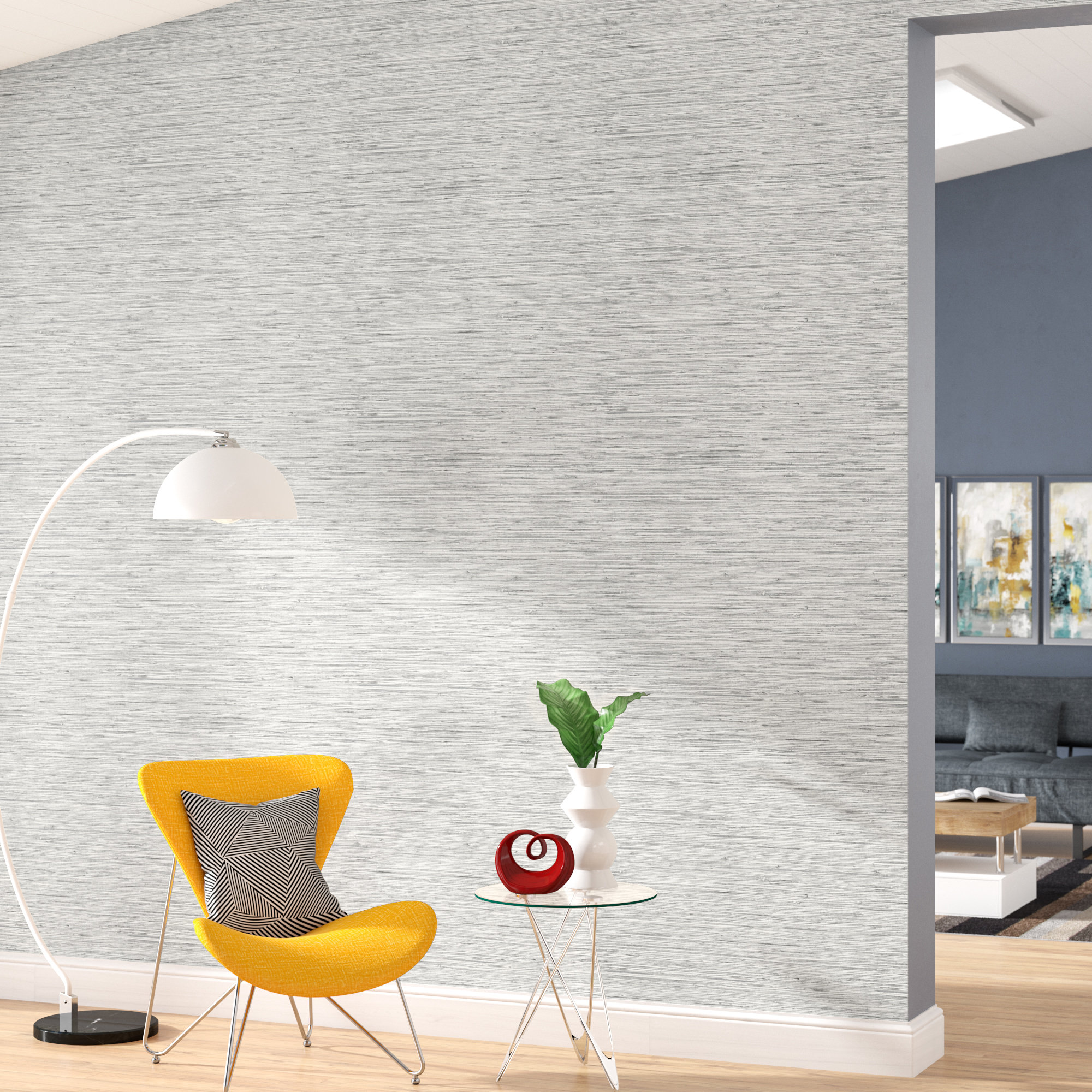 Orren Ellis Olguin 165 L x 205 W Abstract Peel and Stick 2000x2000