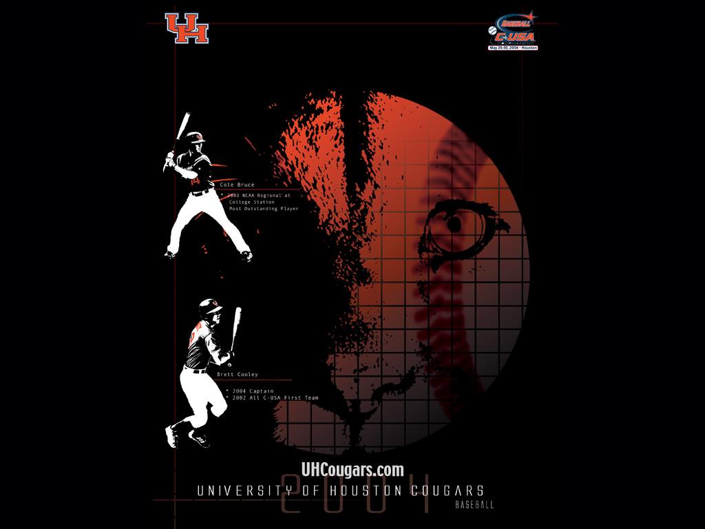 2004 Desktop Wallpaper   University of Houston Athletics UH Cougars 1024x768