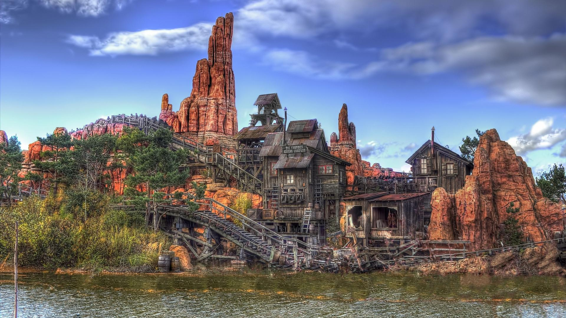 AMAZING WOODEN ROLLER COASTER HDR WALLPAPER   99019   HD Wallpapers 1920x1080