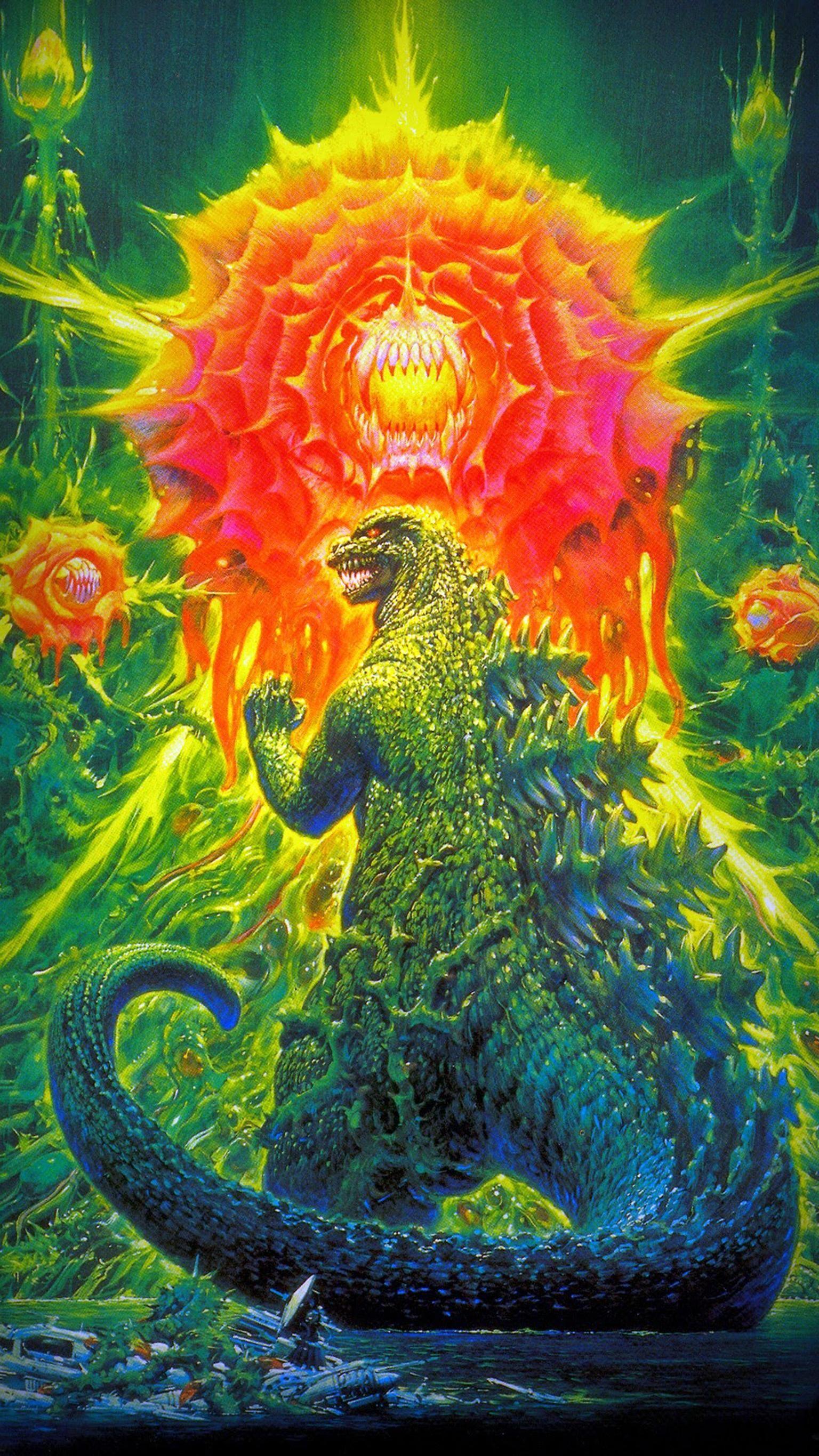 Godzilla vs Biollante 1989 Phone Wallpaper in 2019 Original 1536x2732