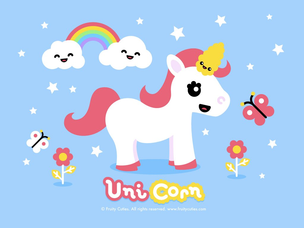 49 Kawaii Unicorn Wallpaper On Wallpapersafari