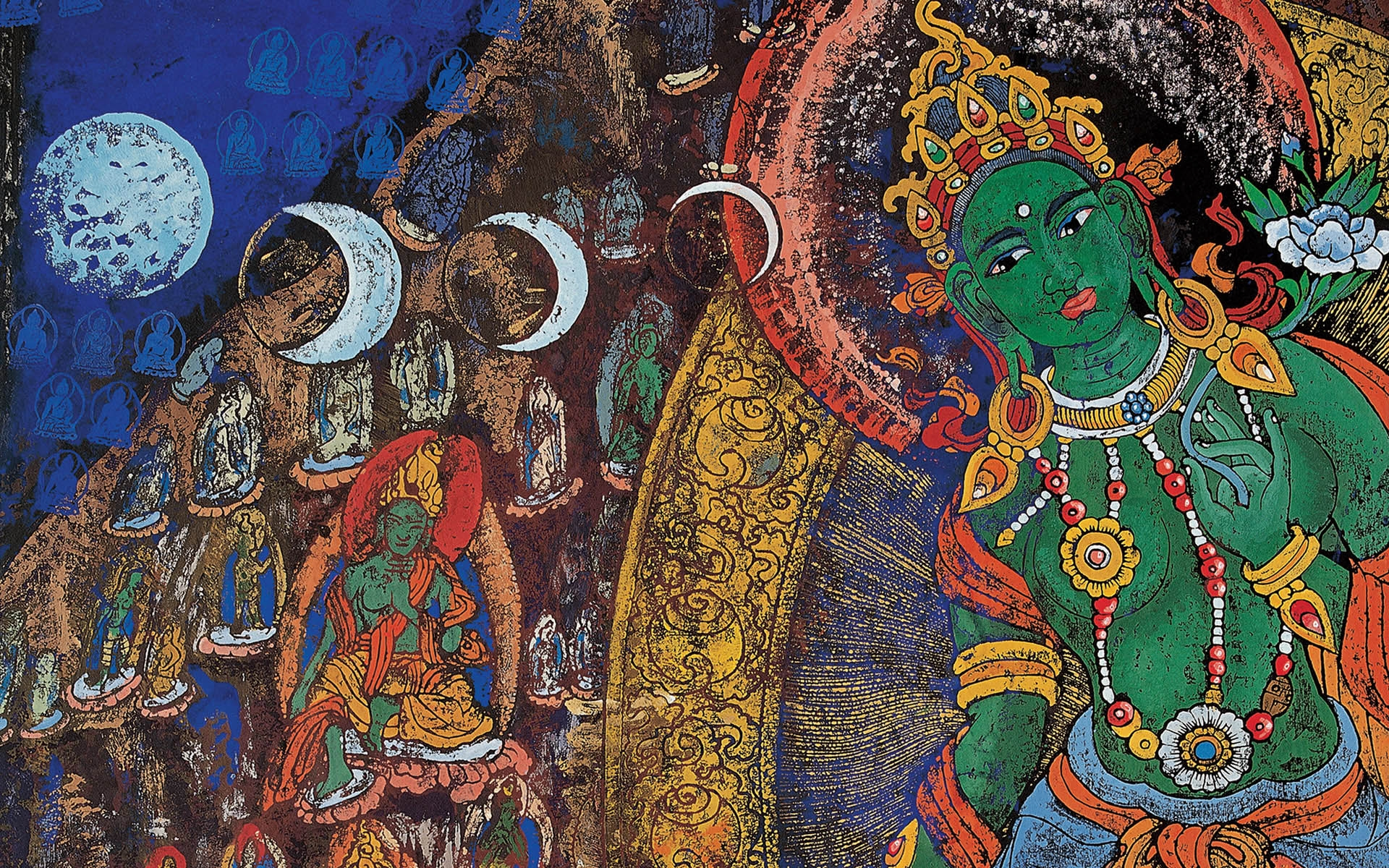 XiangBa Tibet Woodcut Full HD Wallpaper and Background 1920x1200