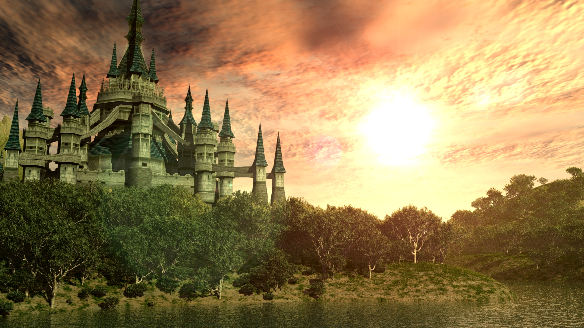 twilight princess hyrule castle desktop 19201080 hd wantedwallpapers 1920x1080