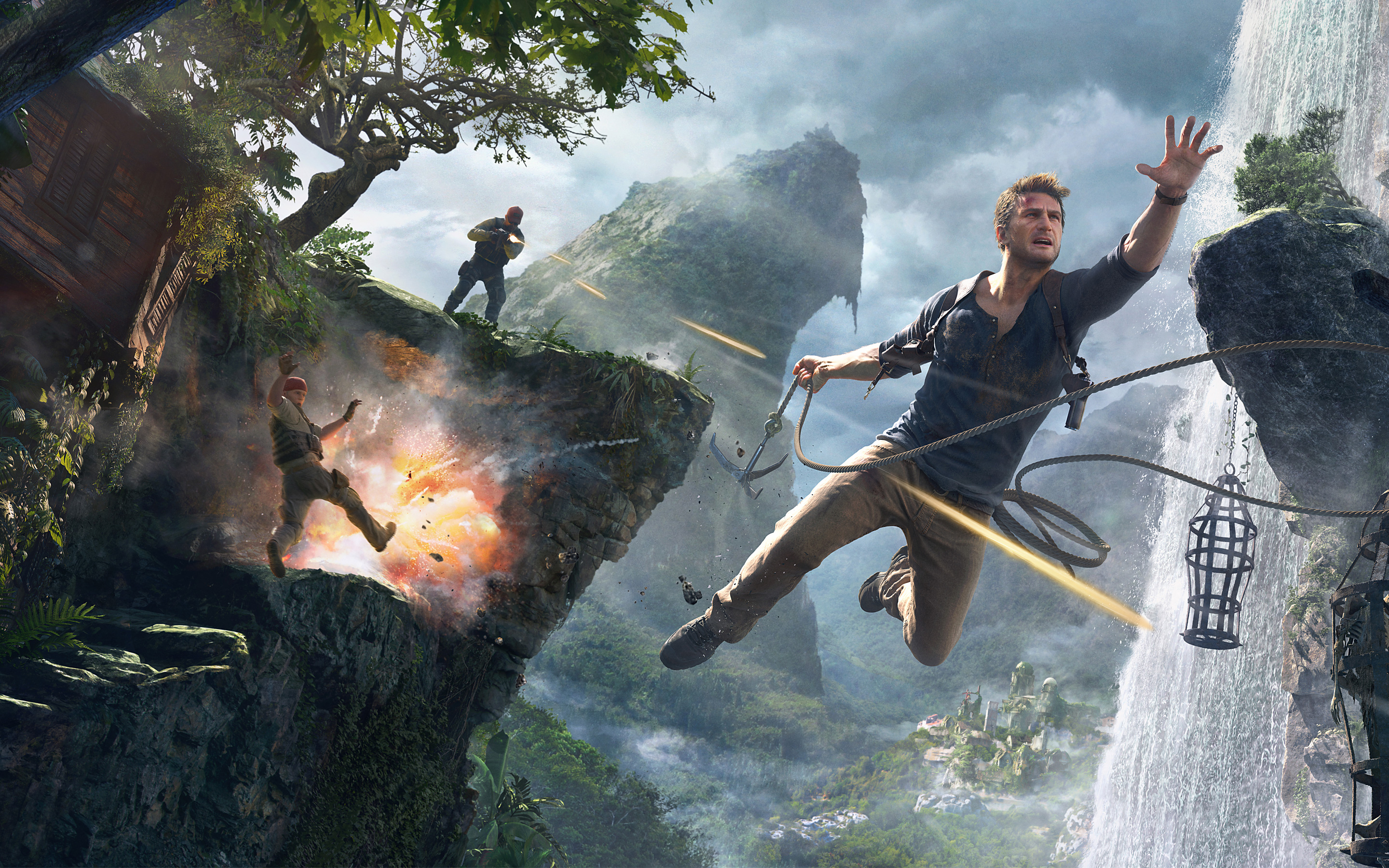 Uncharted 4 A Thiefs End 4K 8K HD Wallpapers HD Wallpapers 2880x1800