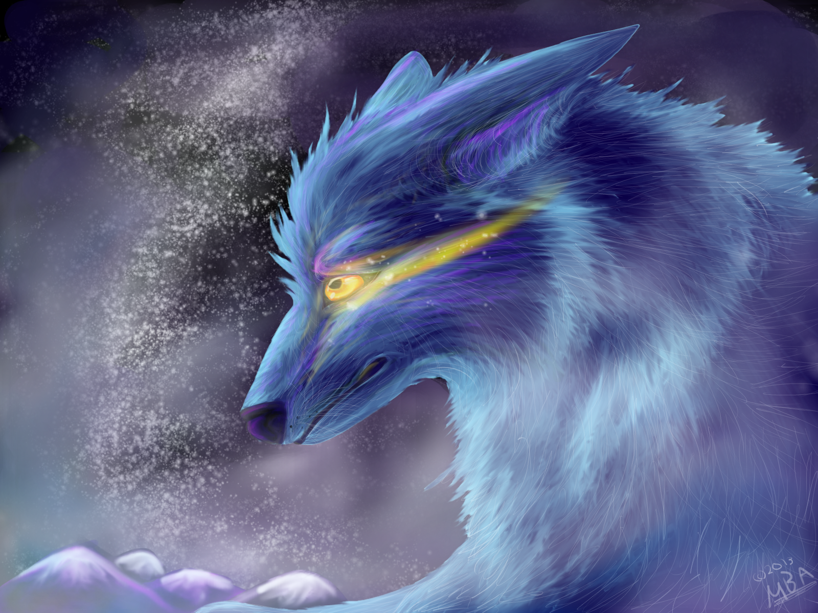 Ice Wolf Wallpaper Ice wolf by airokat 1600x1200