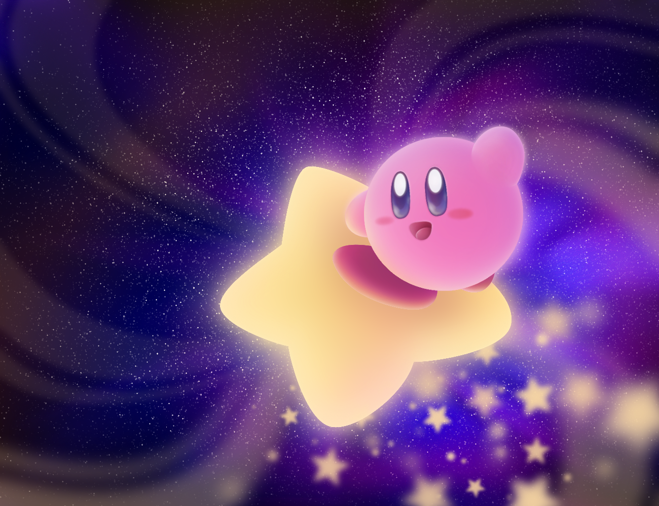 Kirby on a Warpstar   Good for backgrounds Kirby 1300x1000