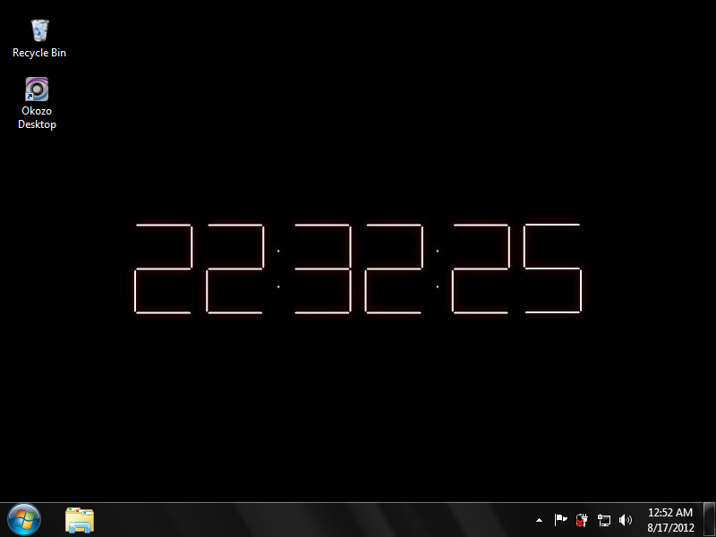 Animated Digital Clock Desktop wallpaper clock 800x600