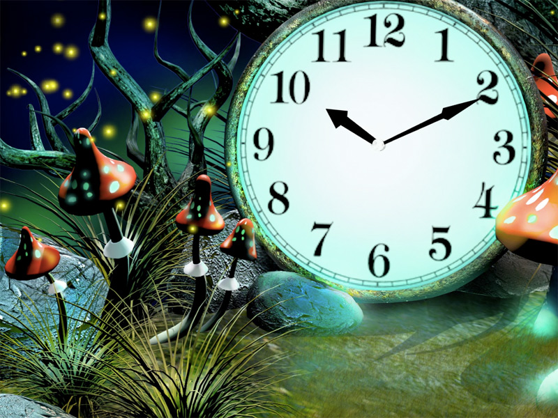 7art Magic Forest Clock screensaver   Enter the Magic Forest and know 800x600