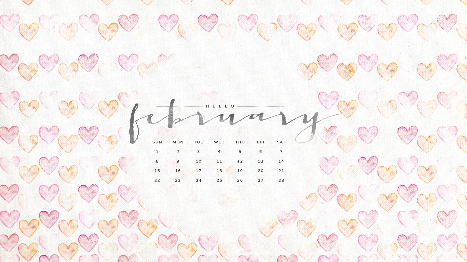 February calendar 2015 wallpaper   HD Wallpapers 1920x1080