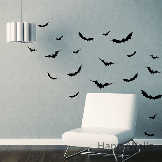 Bat Wall Sticker DIY Bat Wall Decals Kids Room Removable Wall Art Easy 523x523