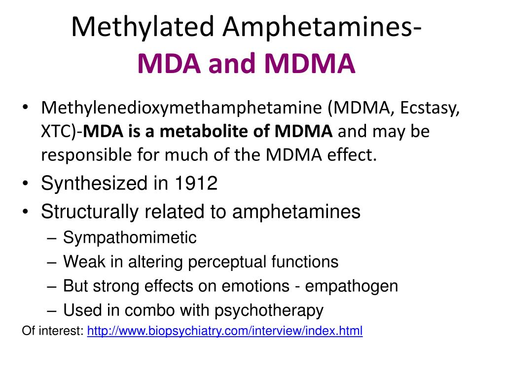 PPT   Methylated Amphetamines  MDA and MDMA PowerPoint 1024x768